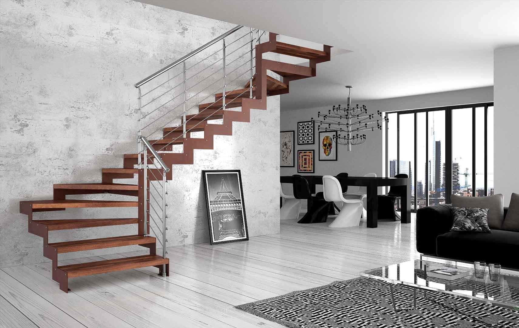 Kako povezati dvoeta ni stan stepenicama svake posebne - Immagini scale interne moderne ...